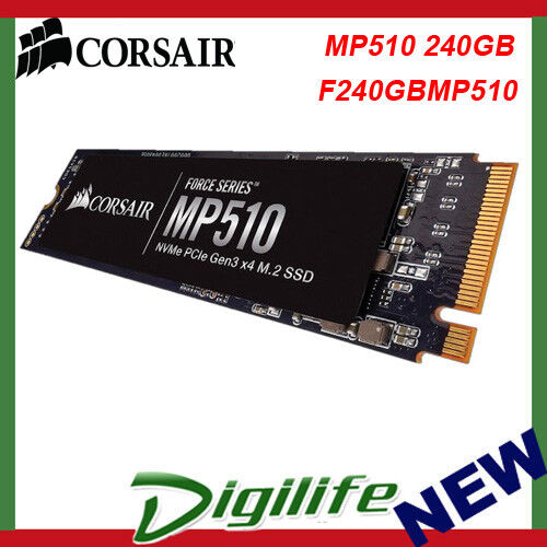 Corsair Force MP510 240GB M.2 NVMe PCIe Solid State Drive SSD CSSD-F240GBMP510