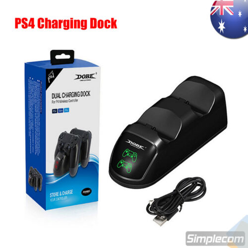 DOBE Dual Controllers Charging Dock Charger Station Gamepad Stand for PS4