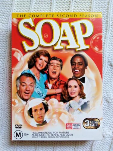 SOAP –THE COMPLETE SECOND SEASON- DVD, 3-DISC BOX SET-R-4, LIKE NEW, FREE POST