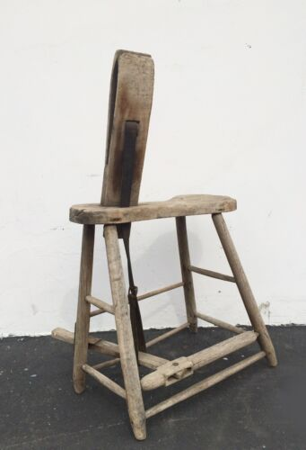 Decorative Antique Wooden Leather Horse Harness Makers BENCH