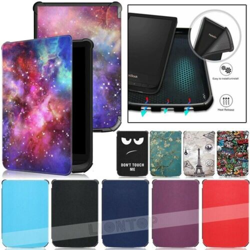 Smart Slim Leather Cover Case For Pocketbook 627 616 632 Touch Lux4 / Basic Lux2