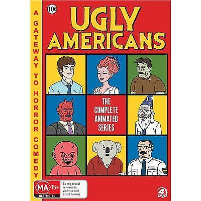 Ugly Americans The Complete Animated Series ( DVD, 2014, 4 Disc Set ) Region 4
