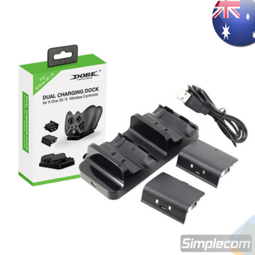DOBE Dual Controllers Rechargeable Batteries Dock Charger Station for XBOX ONE