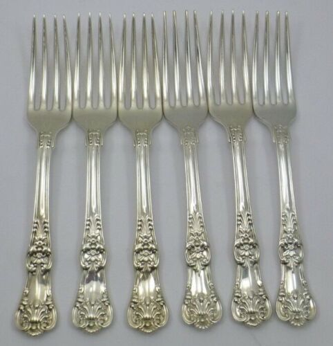 6 Authentic Tiffany & Co English King Sterling Silver Dinner Forks No Monograms