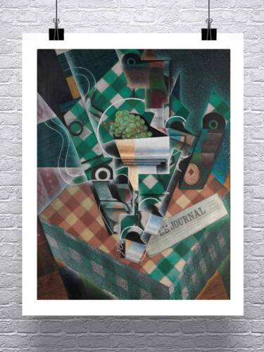 Juan Gris Cubism Still Life with Checked Tablecloth Fine Art Canvas Giclee Print
