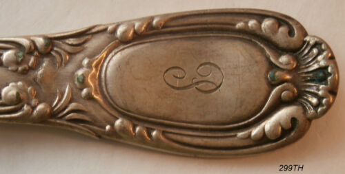 "1 - TIFFANY   ""Old French Spoon's @ 8-5/8"" Silverplate a.k.a EP"