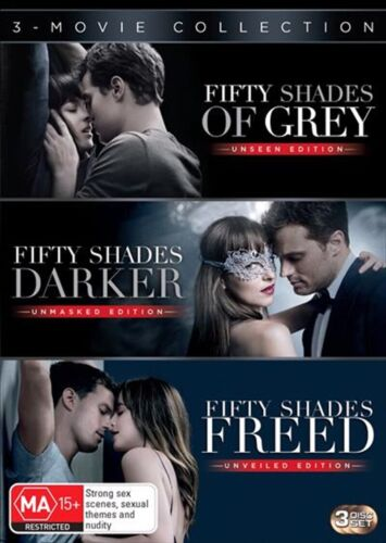 Fifty Shades Of Grey + Darker + Freed Trilogy | DVD Region 4 | Brand New 3 Discs