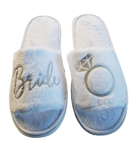 BRIDAL Bride Slippers Bridesmaid Bride Slippers Maid of Honour (One Post Price)