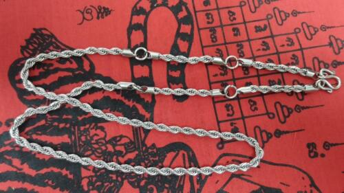 """28"""" Elegance Stainless Steel Necklace For Hanging Maximum 5 Thai Amulets"""