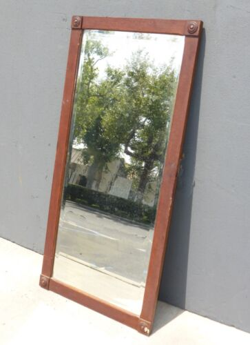 Antique Federal Style Tall Rectangular Wall Mantle Mirror French Chic