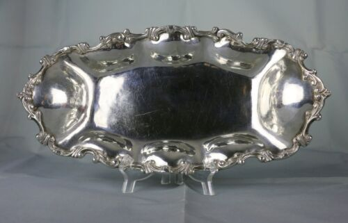 """Heavy Mexican HECHOEN MEXICODF.  Sterling Silver Tray Plate ~12-3/8"""" ~521 Grams"""
