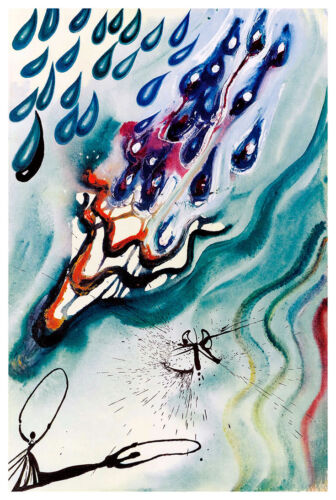 Alices Adventures in Wonderland I A2 by Salvador Dali High Quality Canvas Print