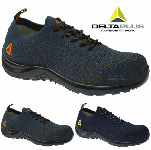 WOMENS LADIES ULTRA LIGHTWEIGHT WORK STEEL TOE CAP SAFETY SHOES LACE UP TRAINERS <br/> DELTA PLUS SUMMER BREATHABLE MESH MIDSOLE CANVAS CLOGS