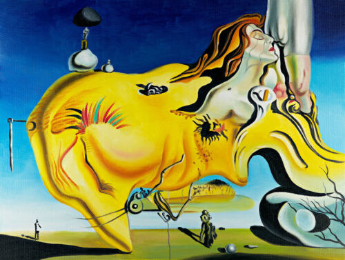 The Great Mastur A1+ by Salvador Dali High Quality Canvas Print