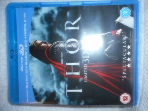 THOR LIMITED EDITION 3 D BLU RAY DVD