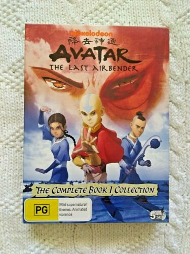 Avatar - The Last Airbender : Book 1 (DVD, 5-Disc Set) R-4-LIKE NEW-FREE POST