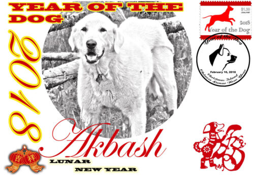 AKBASH DOG 2018 YEAR OF THE DOG STAMP SOUVENIR COVER