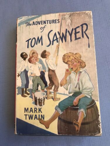 Vintage Book The Adventures Of Tom Sayer  by Mark Twain 1957