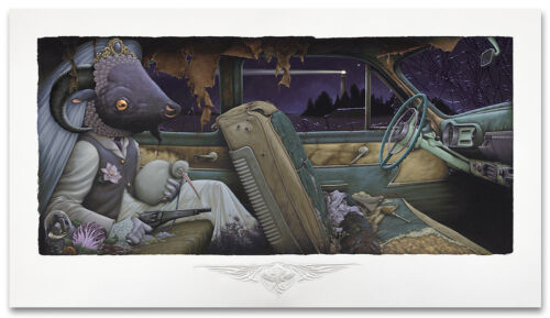 Aaron Horkey No More Noir Giclee Print Signed Numbered of 180 poster