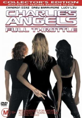 Charlie's Angels - Full Throttle (DVD, 2003) GOOD CONDITION