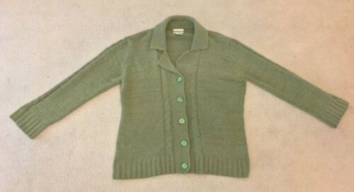 GREEN SOFT KNIT TOP CARDIGAN/JACKET IN SIZE 16