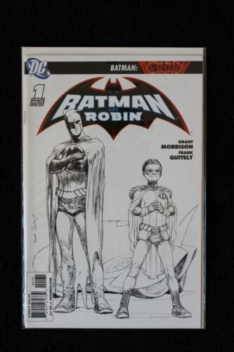 Batman And Robin #1 Sketch Variant DC 2009 Bagged & Boarded