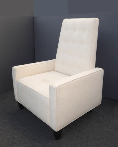 Designer Contemporary Modern White Tufted Accent Chair