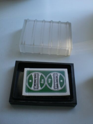 vintage bakelite and frosted glass playing card holder