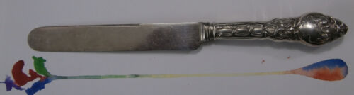 """1-""""Douvaine"""" by UNGER Sterling Silver Dinner Knife @ 9-3/8  *mono """"C"""""""
