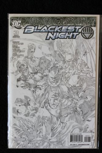 Blackest Night #3 Sketch Variant DC 2009 Bagged & Boarded