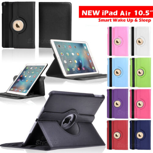 """360°Rotating Smart Wake Up Flip Leather Case Cover For Apple iPad Air 10.5"""""""