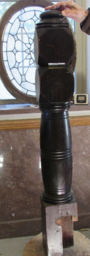 1880's Walnut Newel Post Vintage Architectural Salvage Staircase