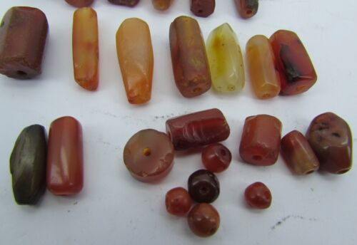 25 Ancient Carnelian beads from Afghanistan.