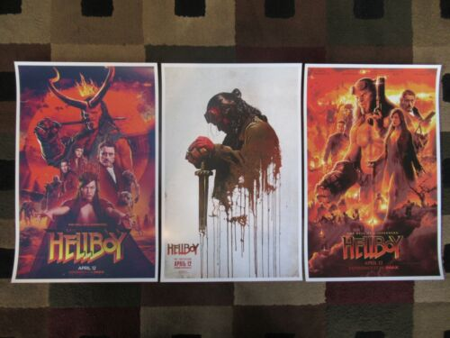 "Hellboy -  (11"" x 17"") Movie Collector's Poster Prints ( Set of 3 )"