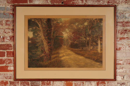 """Wallace Nutting """"Dell Dale Rd"""" Hand Painted Landscape Photograph-22x32"""" Signed"""