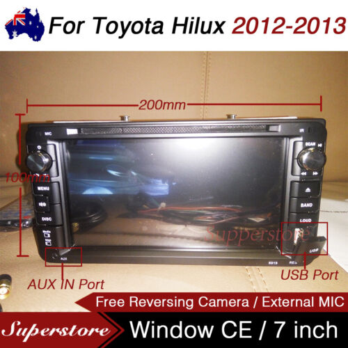 "7"" Car DVD GPS Navigation Head Unit Player Stereo For Toyota Hilux 2012-2013"