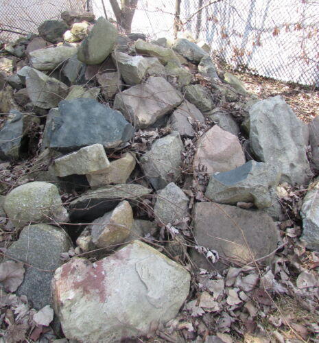 Vintage 1930 Cut Stone Garden Rock Architectural Salvage Recycle Repurpose Reuse