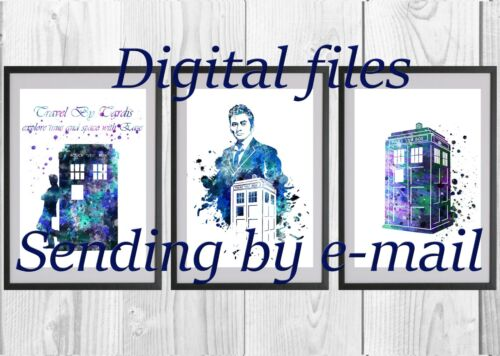 TARDIS Doctor Who for print poster art home decor on the wall 3 DIGITAL files
