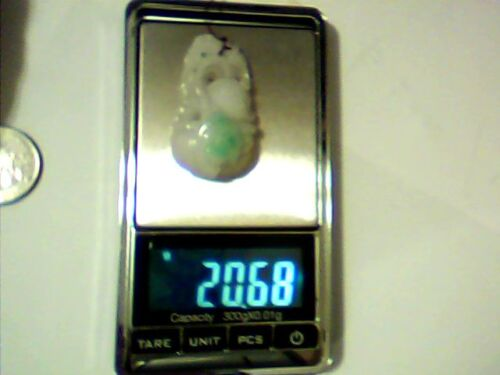 a never used chinese natrual authentic carved Jadeite pendant