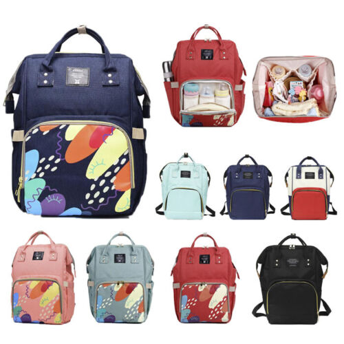 Multifunctional Mummy Backpack Baby Diaper Bag Nappy Changing Bag Women Backpack <br/> Dry-Wet Separation & insulated Bottle Pocket & AU STOCK