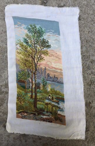 Vintage Retro Collectible Textile Tapestry Dreamy Beautiful Spring Landscape