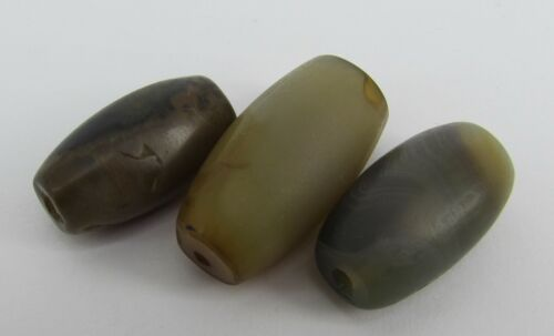 ancient Agate beads with structures from Afghanistan