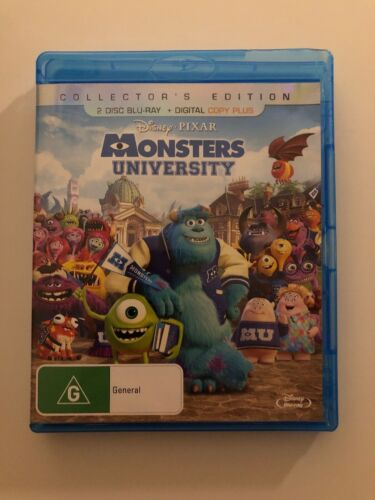 Monsters University (Blu-ray, 2013, 2-Disc Set) Collectors Edition Free Postage