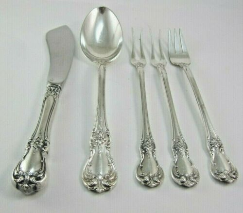 TOWLE OLD MASTER LOT OF FIVE  MISC.STERLING SILVER UTENSILS (NOT MONOGRAMMED )