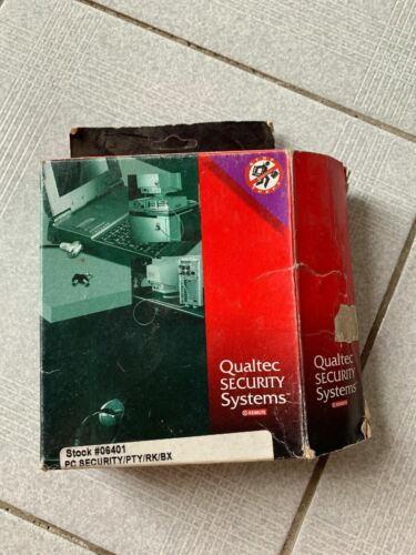 Vintage Qualtec Security Systems PC Laptop Lock Pad-Lok II From 2000