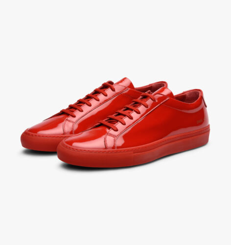 Common Projects Achilles Sneakers in Gloss Red Leather, size 40 - BNWB, RRP £340