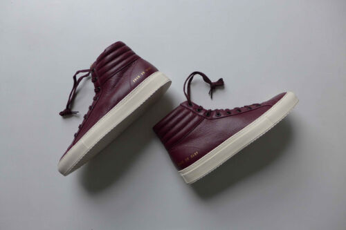 Common Projects Achilles Premium High Sneakers Burgundy - 38 & 39 - BNWB, £370