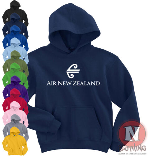 Air New Zealand airline Hoodie hooded top aircraft plane spotting classic logo