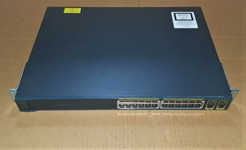 CISCO WS-C2960-24PC-L  V07 24 PORT POE SWITCH WITH Available:370.0(w) POWER
