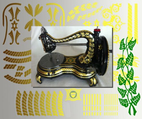 Restoration Decals for antique Jones Serpentine Swan Neck Sewing Machine